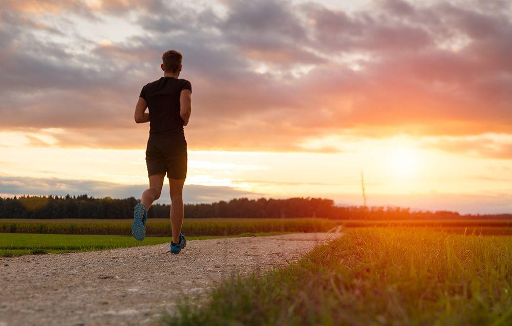Бег как часть тренировки пресса.