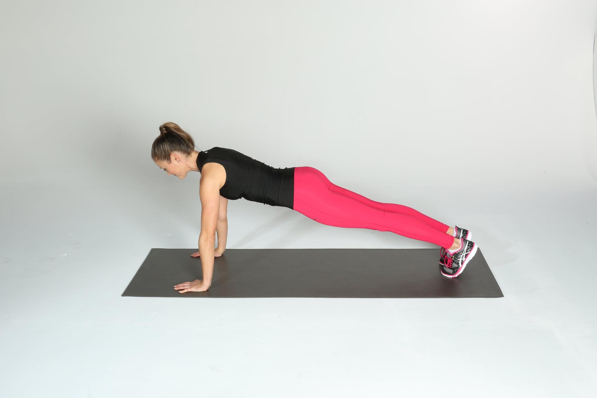 Техника выполнения упражнения вакуум в планке.